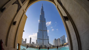 The tallest building in the world is located in Dubai.