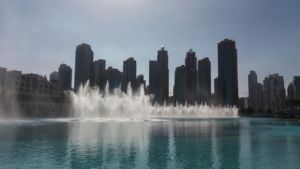 European newcomers are thrilled with the dancing fountains.