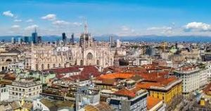 Milan,the best fashion city in Europe. Photo taken from the height.