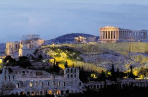 Astonishing view of Acropolis at night