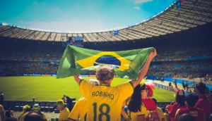 A stadium full of people in Brazil.