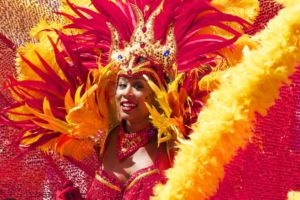 Woman on the carnival.