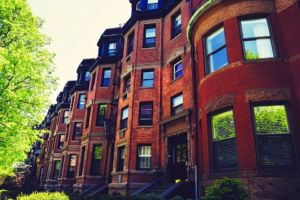 brownstone homes you will see after moving from Budapest to Boston
