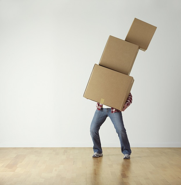 Man carrying boxes