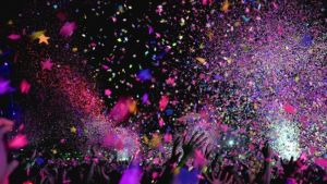 One of the top live music venues in Canada, confetti in the air