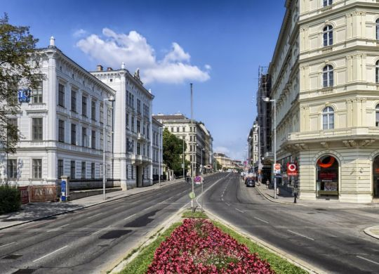 A beautiful image of daytime Vienna.