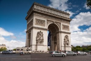 Arc de Triumph -  a visit ot it is one of the most popular vacation activities in Paris