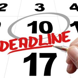 a calendar and the word deadline written in the center