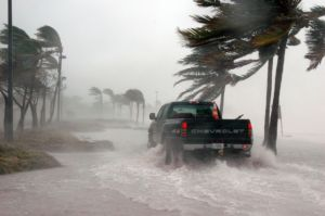 A hurricane on the beach