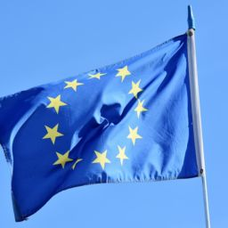 A European Union flag.