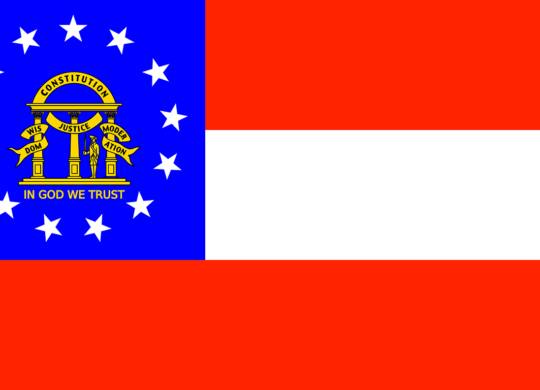 The flag of Georgia, you fill see it everywhere after moving to Georgia