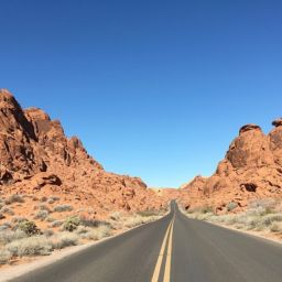 Road through the Nevada