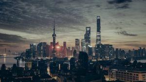 A beautiful and stylish Asian city.