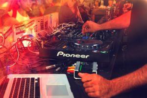 DJ equipment.