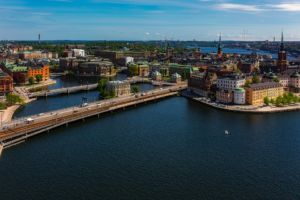 Stockholm skyline.