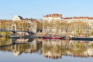 Lyon, a neighborhood in France.