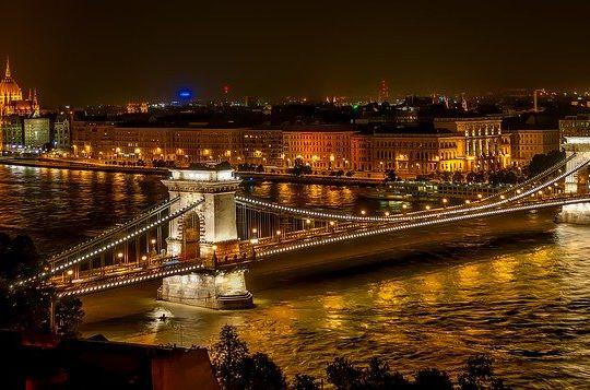 Famous bridge in Budapest