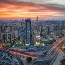 City skyline in Kuwait.