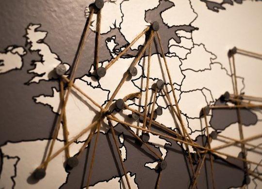 European map.