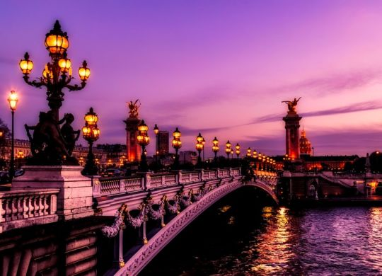 A picture of Paris, one of the most kid-friendly cities in Europe.