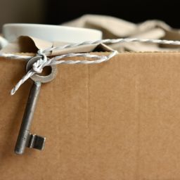 Moving box and the key - prepare for moving and stay organized