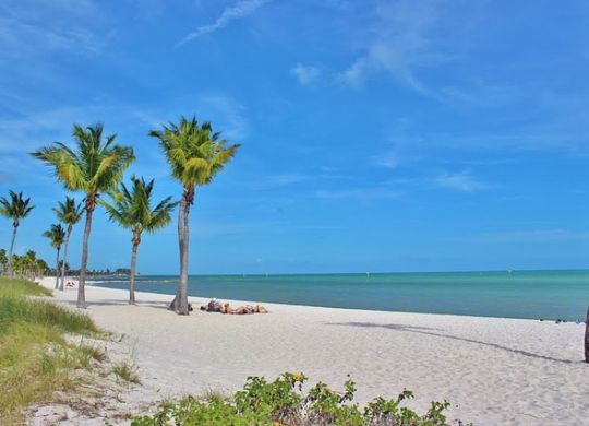 a beach in Florida which makes moving to Florida appealing