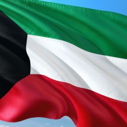 A Kuwait flag.