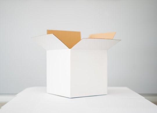 A white cardboard box.