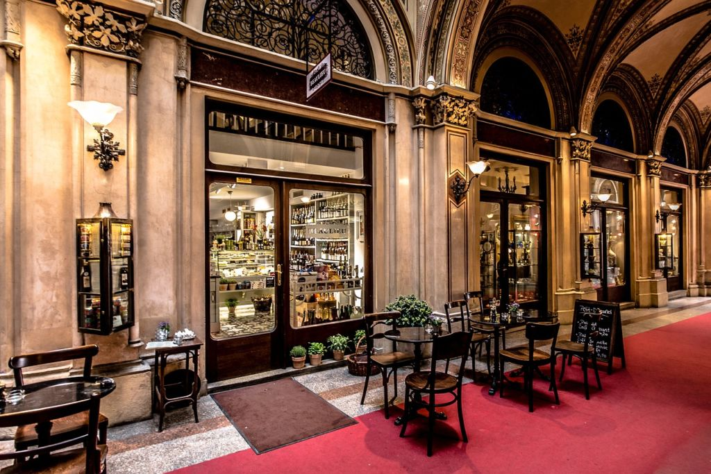 A cafe in Vienna you could visit often when living in Vienna as an expat.