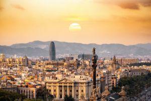 Panoramic view of Barcelona.