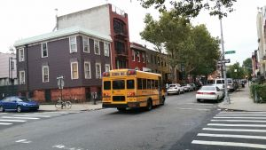 A street in Williamsburg, one of the top NYC neighborhoods for Europeans.