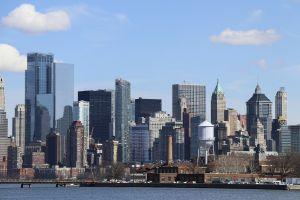 Upper Manhattan city view.