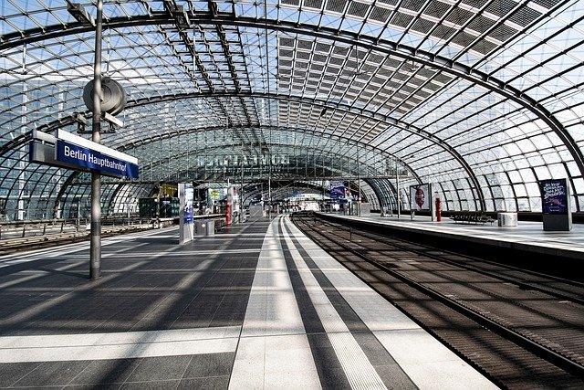 Train station in Berlin.