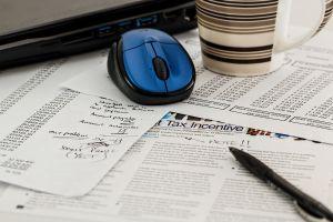 Tax paperwork.