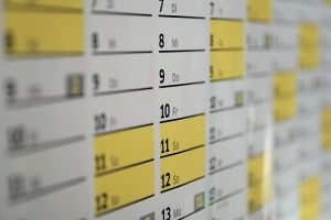 Calendar - When is the best time to contact moving professionals?