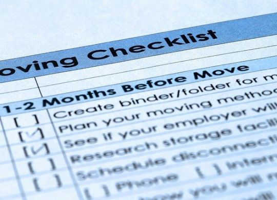 Moving Checklist - When is the best time to contact moving professionals?