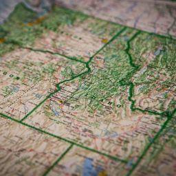 Idaho map.
