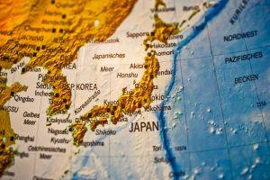 Japan, map.