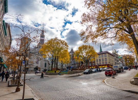 Street view of Quebec City, Quebec.