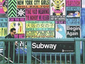 Subway entrance.
