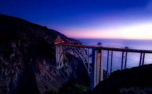 Big Sur panorama during evening.