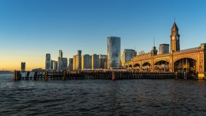 The view of Hoboken, one of the best New Jersey cities for freelancers.