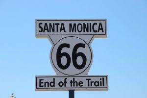 Santa Monica road sign.