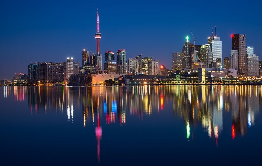 Toronto city view. One of the reasons why businesses are expanding to Toronto is because of the stable economy.