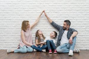 Family of four.