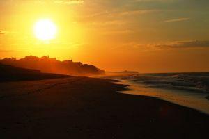 A sunset at Hampton Beach.